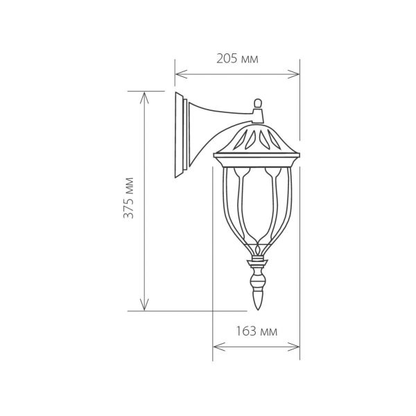 уличный настенный светильник GL 1002D черное золото 1