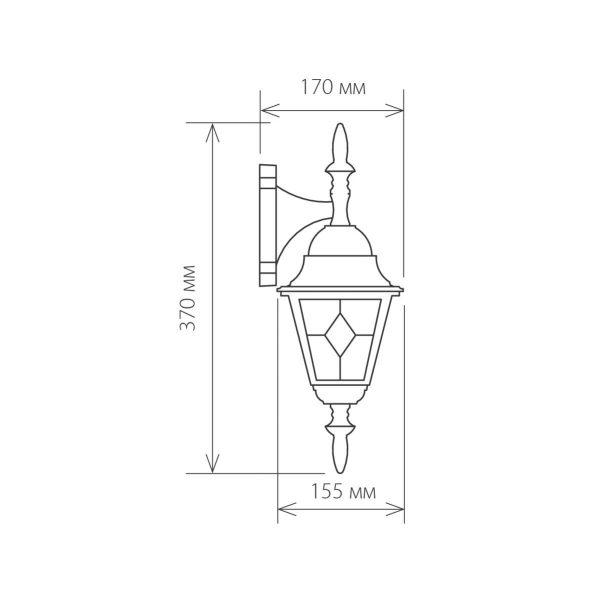 уличный настенный светильник Vega D черный 1