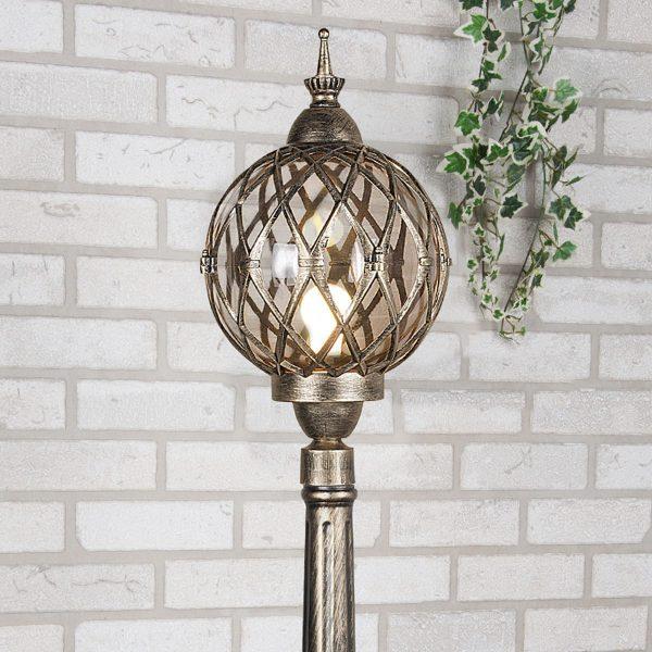 уличный светильник на столбе Sirius F черное золото