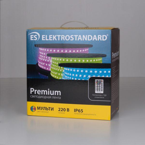 Светодиодная лента LS012 220V 14,4W 60Led 5050 IP65, мульти 2
