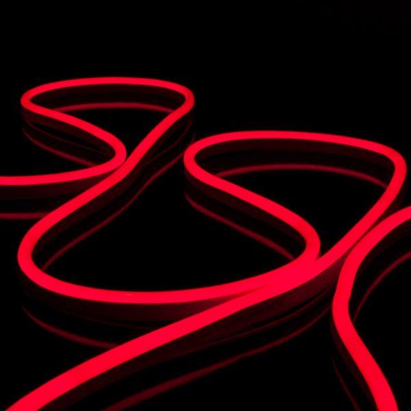 Светодиодный гибкий неон LS001 220V 9.6W 120Led 2835 IP67 односторонний красный 2