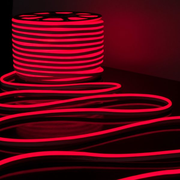 Светодиодный гибкий неон LS001 220V 9.6W 120Led 2835 IP67 односторонний красный 3
