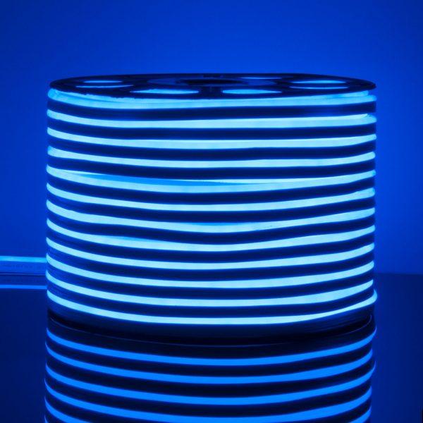 Светодиодный гибкий неон LS001 220V 9.6W 120Led 2835 IP67 односторонний синий 1