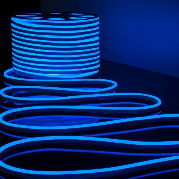 Светодиодный гибкий неон LS001 220V 9.6W 120Led 2835 IP67 односторонний синий 2