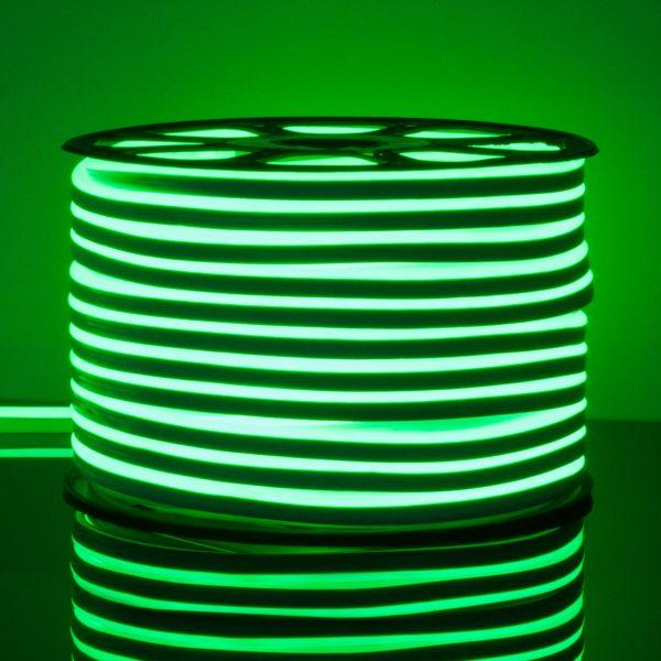 Светодиодный гибкий неон LS001 220V 9.6W 120Led 2835 IP67 односторонний зеленый 1