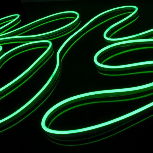 Светодиодный гибкий неон LS001 220V 9.6W 120Led 2835 IP67 односторонний зеленый 2