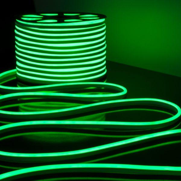 Светодиодный гибкий неон LS001 220V 9.6W 120Led 2835 IP67 односторонний зеленый 3