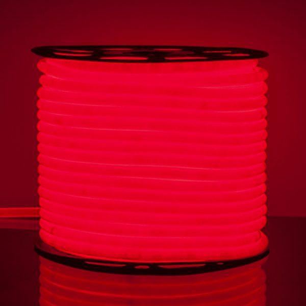 Светодиодный гибкий неон LS002 220V 9.6W 120Led 2835 IP67 круглый красный 1