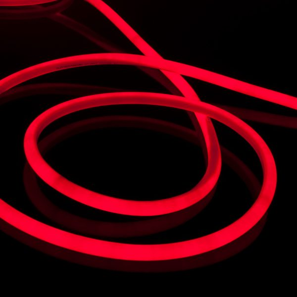 Светодиодный гибкий неон LS002 220V 9.6W 120Led 2835 IP67 круглый красный 2