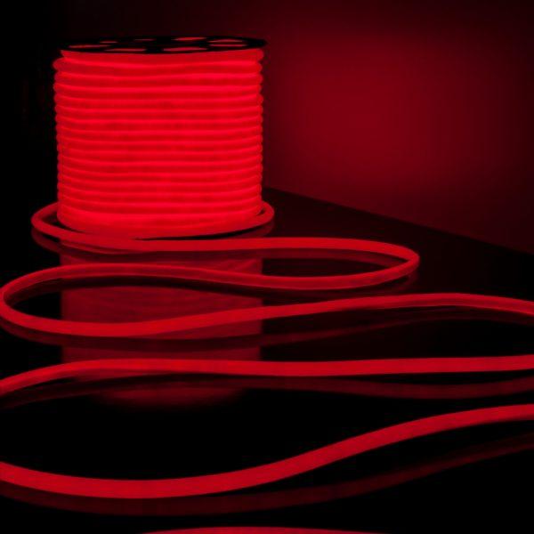 Светодиодный гибкий неон LS002 220V 9.6W 120Led 2835 IP67 круглый красный 3