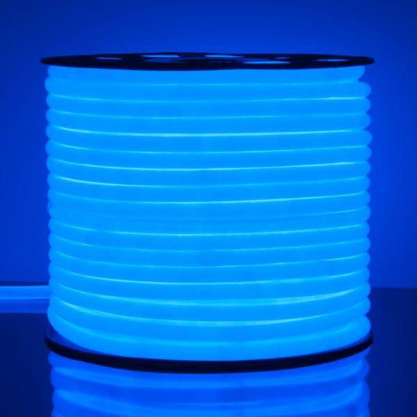 Светодиодный гибкий неон LS002 220V 9.6W 120Led 2835 IP67 круглый синий 1