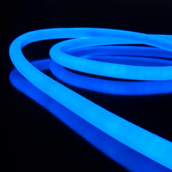 Светодиодный гибкий неон LS002 220V 9.6W 120Led 2835 IP67 круглый синий 4