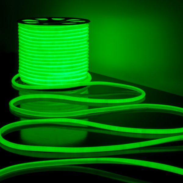 Светодиодный гибкий неон LS002 220V 9.6W 120Led 2835 IP67 круглый зеленый 2