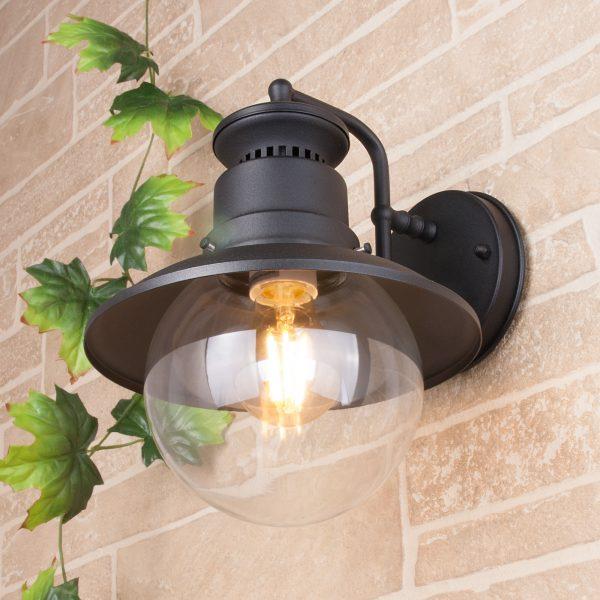 Talli D черный уличный настенный светильник GL 3002D 1