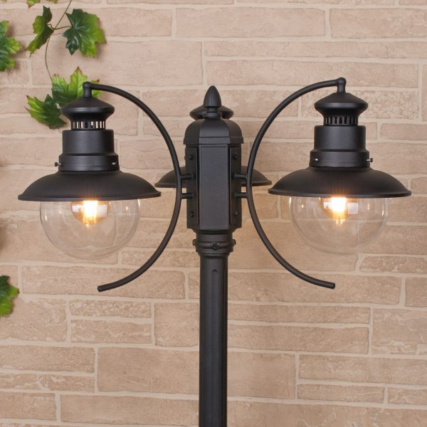 Talli F/3 черный уличный трехрожковый светильник на столбе GL 3002F/3 1