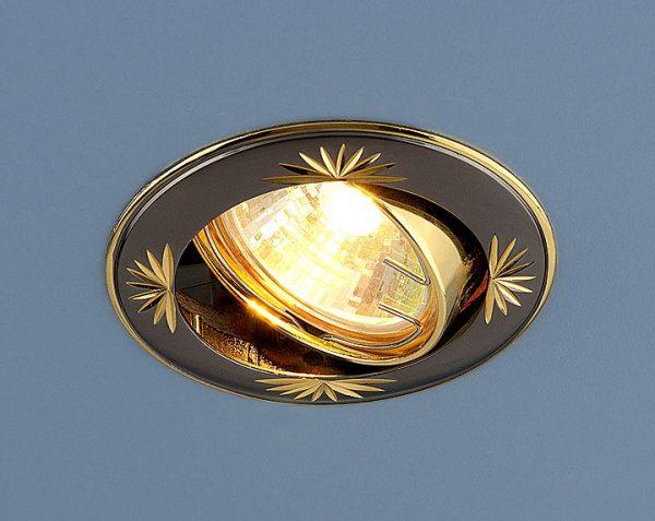Точечный светильник 104A MR16 GU/GD черный/золото