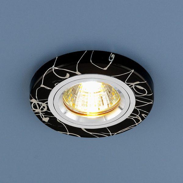 Точечный светильник 2050 MR16 BK/SL черный/серебро