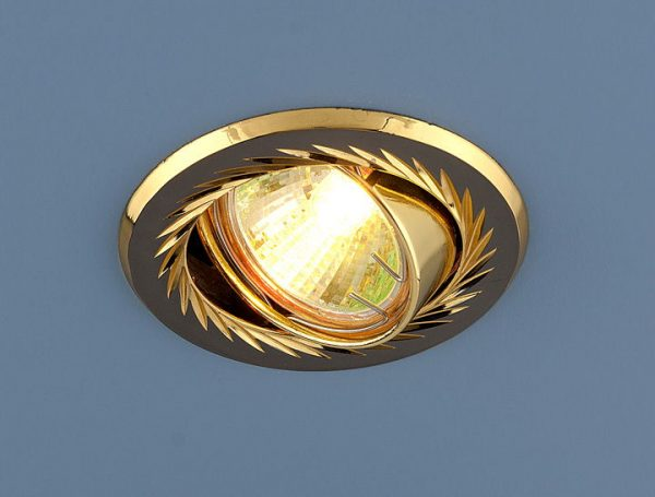 Точечный светильник 704 CX MR16 GU/GD черный/золото