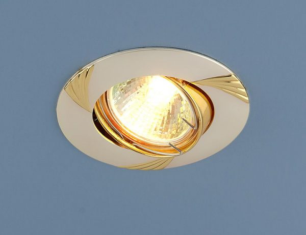 Точечный светильник 8004 MR16 PS/GD перл.серебро/золото