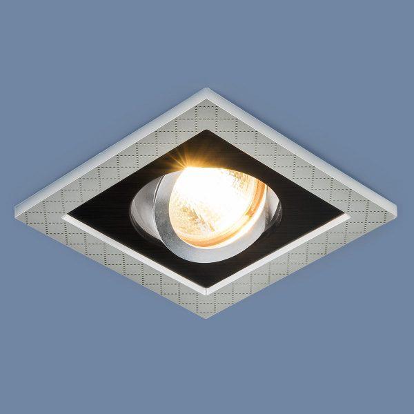 Точечный светильник с поворотным механизмом 1041/1 MR16 SL/BK серебро/черный