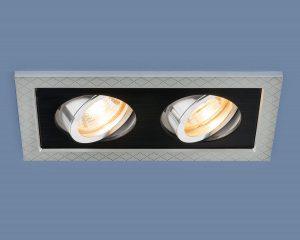 Точечный светильник с поворотным механизмом 1041/2 MR16 SL/BK серебро/черный