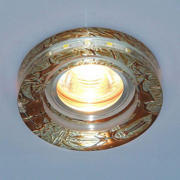 Точечный светильник со светодиодами 2190 MR16 PK розовый перламутр 1