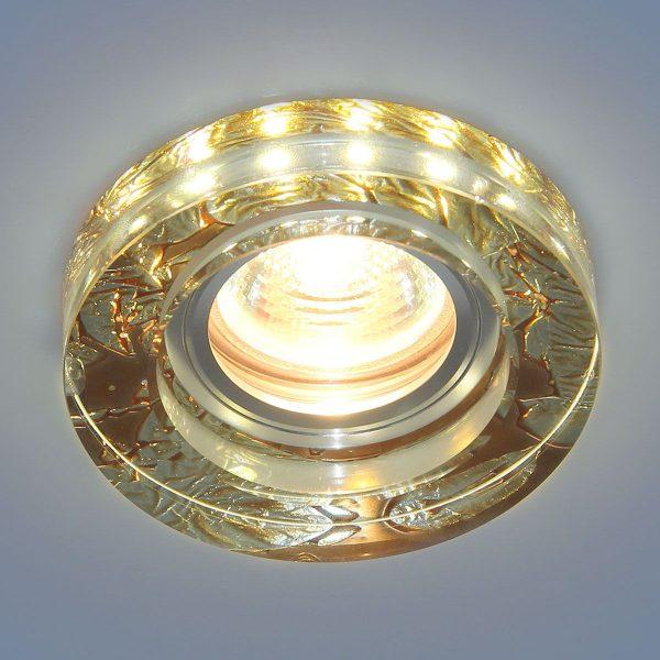 Точечный светильник со светодиодами 2190 MR16 PK розовый перламутр