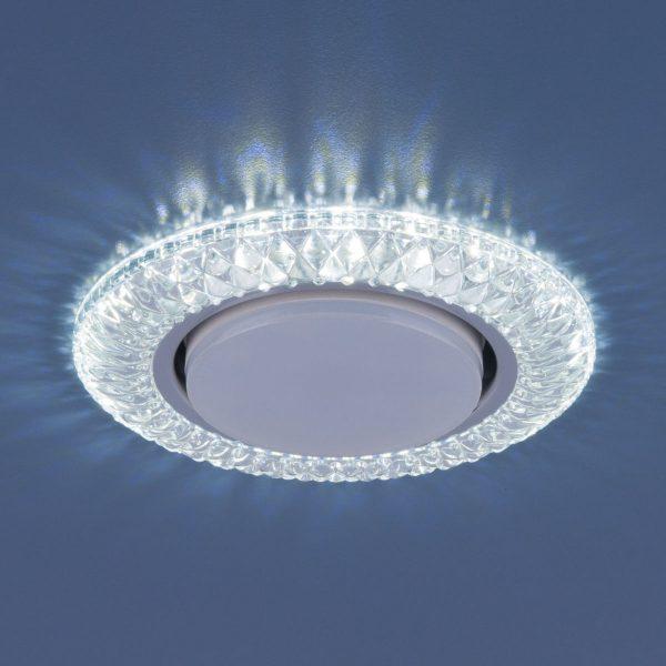 Точечный светильник со светодиодами 3020 GX53 CL прозрачный 1