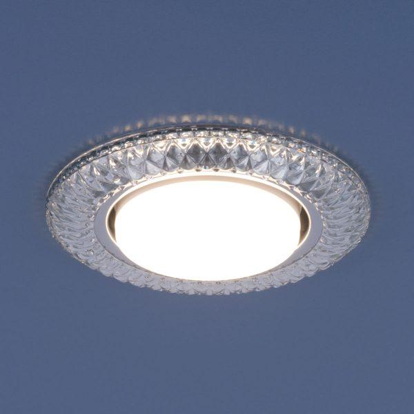 Точечный светильник со светодиодами 3020 GX53 CL прозрачный 2