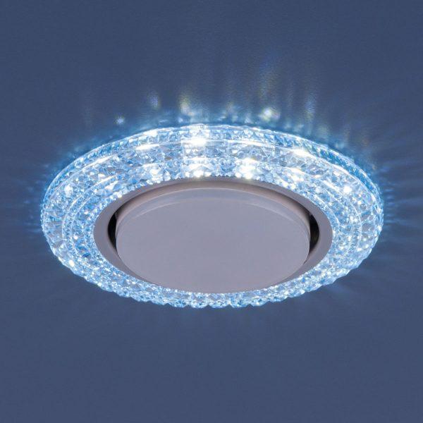Точечный светильник со светодиодами 3030 GX53 BL синий 1