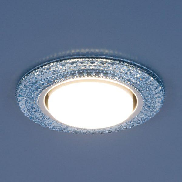 Точечный светильник со светодиодами 3030 GX53 BL синий 2