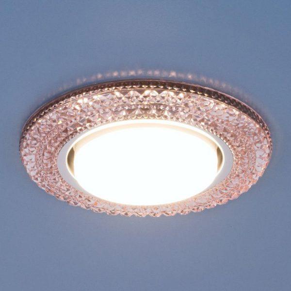 Точечный светильник со светодиодами 3030 GX53 PK розовый 2