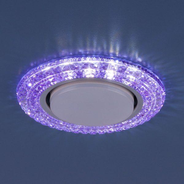 Точечный светильник со светодиодами 3030 GX53 VL фиолетовый 2