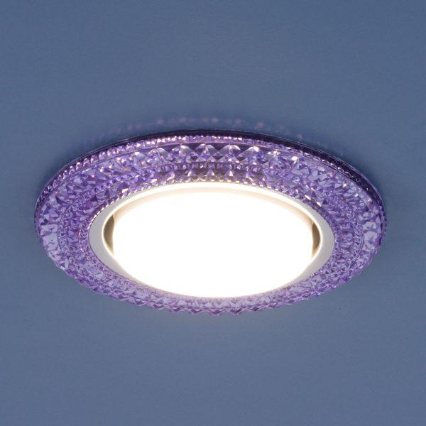 Точечный светильник со светодиодами 3030 GX53 VL фиолетовый 1