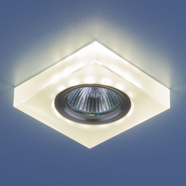 Точечный светильник со светодиодами 6063 MR16 WH белый 2
