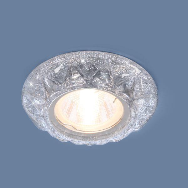 Точечный светильник со светодиодами 7249 MR16 SL серебряный блеск 2