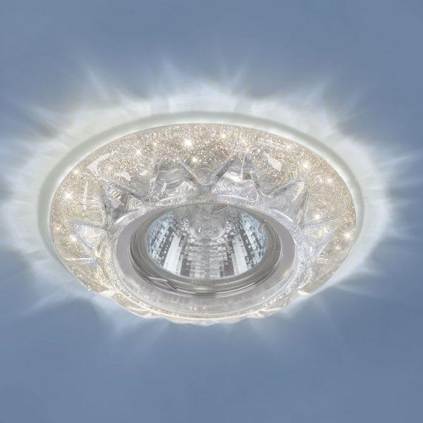 Точечный светильник со светодиодами 7249 MR16 SL серебряный блеск 1