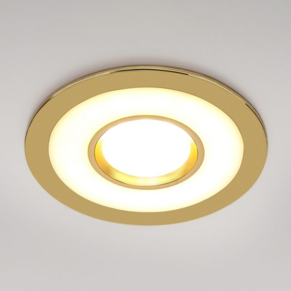 Точечный светильник светодиодный 1052 MR16 GD золото 2
