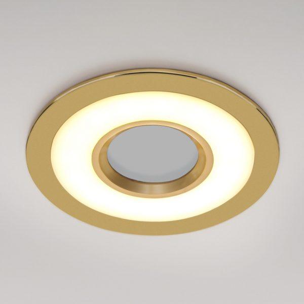 Точечный светильник светодиодный 1052 MR16 GD золото 3
