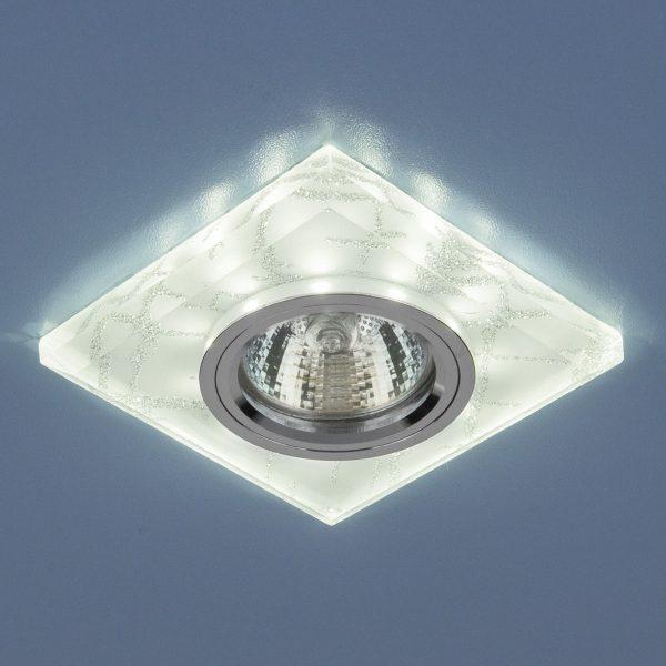 Точечный светильник светодиодный 8361 MR16 WH/SL белый/серебро 1