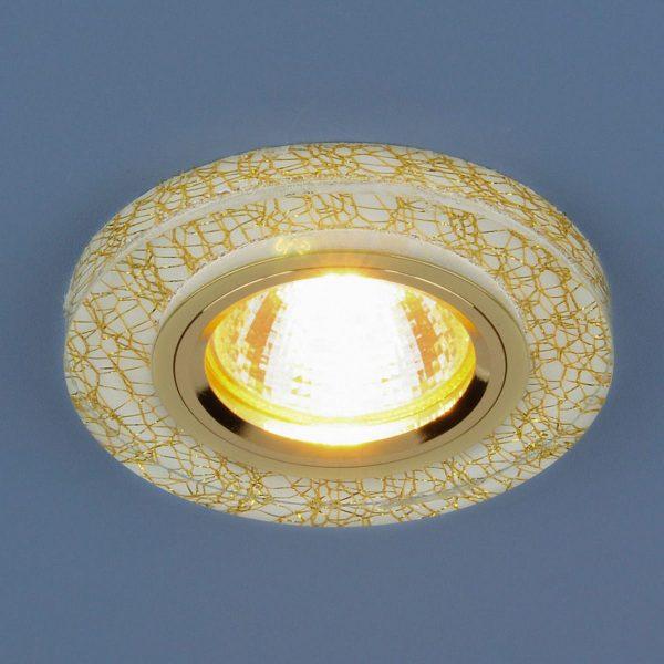 Точечный светильник светодиодный 8371 MR16 WH/GD белый/золото 2