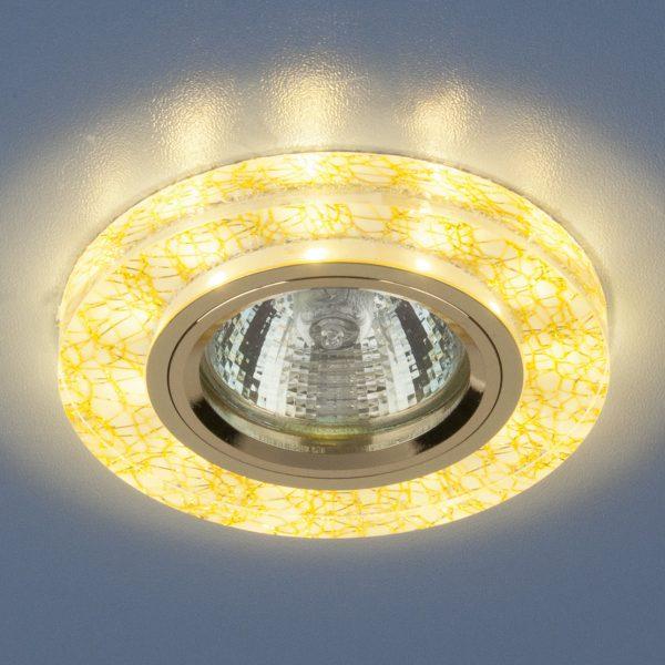 Точечный светильник светодиодный 8371 MR16 WH/GD белый/золото 1