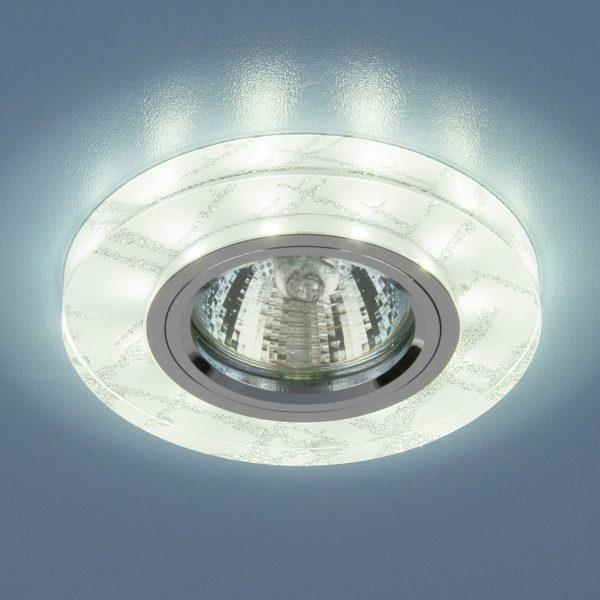 Точечный светильник светодиодный 8371 MR16 WH/SL белый/серебро 1