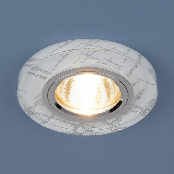 Точечный светильник светодиодный 8371 MR16 WH/SL белый/серебро 2