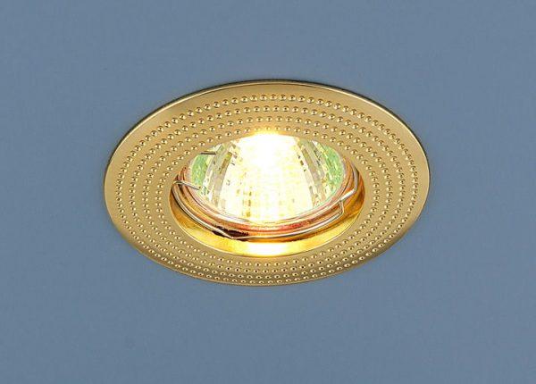 Точечный светильник золотой 601 MR16 GD золото