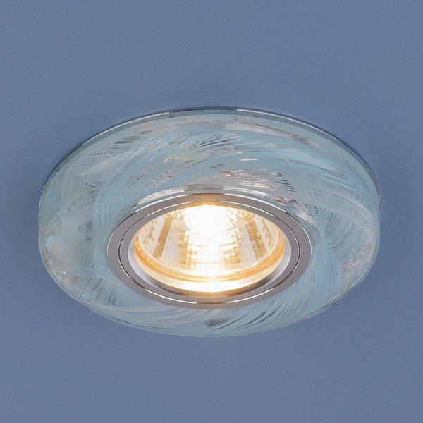 Точечный светодиодный светильник 2191 MR16 CL/BL прозрачный/голубой 2