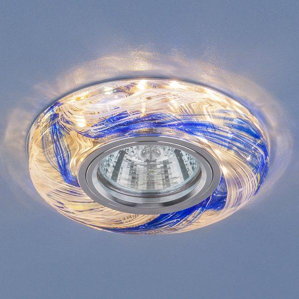 Точечный светодиодный светильник 2191 MR16 CL/BL прозрачный/синий 1