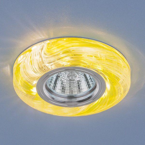 Точечный светодиодный светильник 2191 MR16 CL/GR прозрачный/зеленый 1