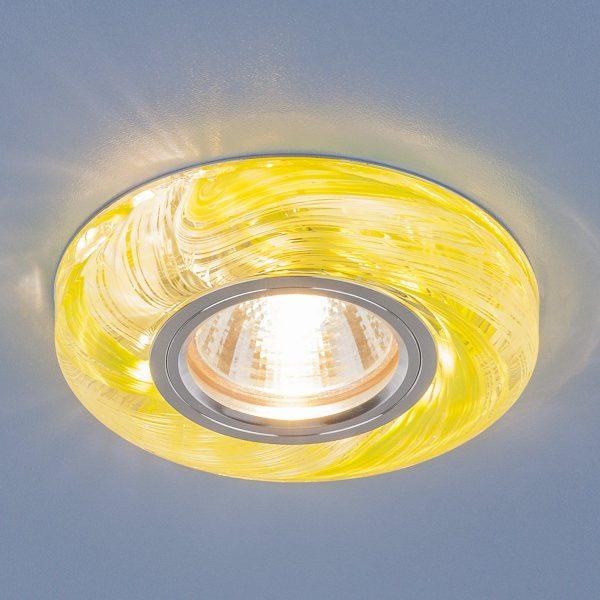 Точечный светодиодный светильник 2191 MR16 CL/GR прозрачный/зеленый