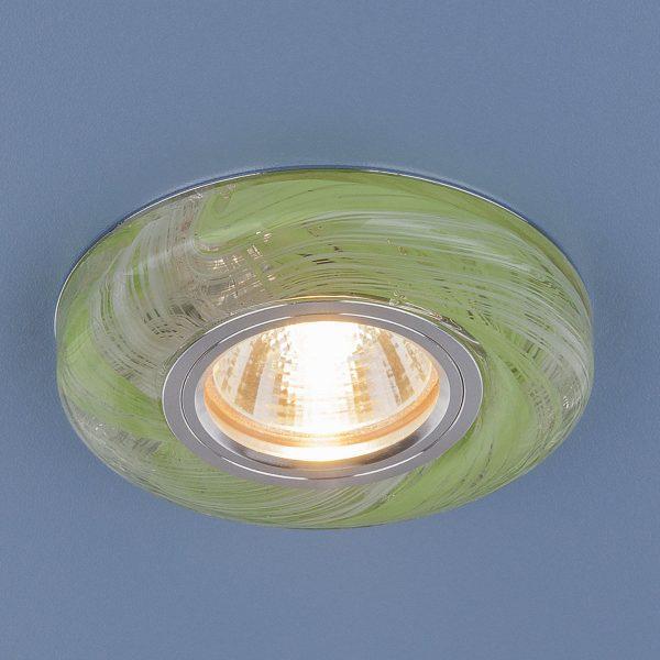 Точечный светодиодный светильник 2191 MR16 CL/GR прозрачный/зеленый 2